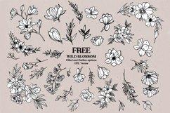 Wild Blossom - Hand sketched Floral & Botanical elements Product Image 3