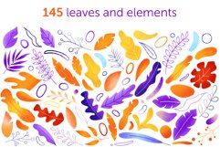 Textural abstract shapes and leaves Product Image 3