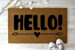Hello Saying Doormat svg, DIY Welcome mat svg Product Image 2