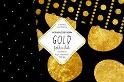 Gold foil Polka dot Black Seamless Pattern Product Image 5