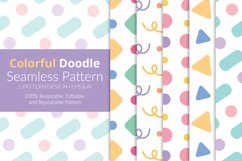 Colorful Doodle Seamless Pattern Pack Product Image 1
