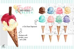 Watercolour Ice creams and Girl Graphics Product Image 3