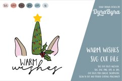 Warm Wishes SVG / Christmas SVG Cut File Product Image 1