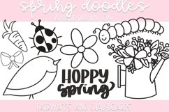 Spring Doodle Font   Doodle Font Product Image 1