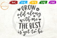 Grow Old Along Love Couple Anniversary Quote Art Product Image 1