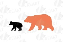 Baby and mama bear nursery clip art collection, bears print Product Image 6