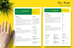 Creative Resume CV Template for Word & Pages Elena Island Product Image 3