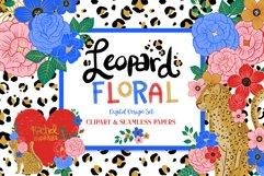 Leopard Floral Clipart & Patterns Product Image 1