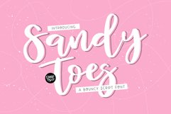 SANDY TOES a Bouncy Script Font Product Image 1