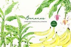 Watercolor Banana Clipart Product Image 1