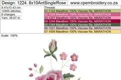 Antique Vintage Old Style Single Rose Product Image 5
