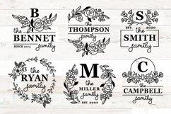 Family Monogram Bundle, Monogram Family Name Product Image 1