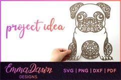 HENRI THE PUG DOG SVG MANDALA ZENTANGLE BUNDLE 4 DESIGNS Product Image 5