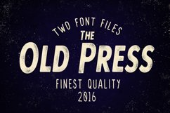 Old Press Two Styles  Product Image 1