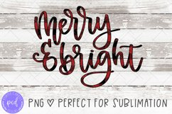 Merry and Bright Hand-Lettered Sublimation File Product Image 1