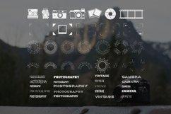 Vintage Photography SVG Bundle Photographer Logos Silhouette Product Image 6