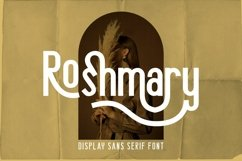 Roshmary - Display Sans Serif Font Product Image 1