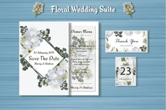 White Floral Wedding Invitation Suite Product Image 3