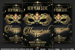 Masquerade Mardi Gras Carnival New Year Flyer Product Image 1