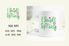 Spring Quotes SVG. I Smell Spring Funny Quotes SVG Product Image 1