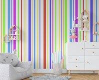 Rainbow Paw Print Digital Paper, Rainbow stripes Product Image 4