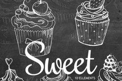 Chalkboard Clipart Elements, Transparent Download,Digital Product Image 2