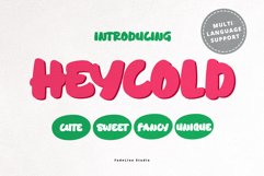 HEYCOLD CUTE FONT Product Image 1