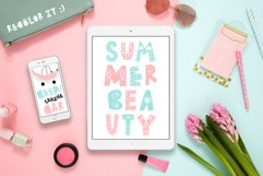 Summer Day Typeface with Clipart! Product Image 6