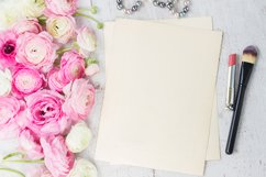 Pink and white ranunculus flowers with lipstick Product Image 1