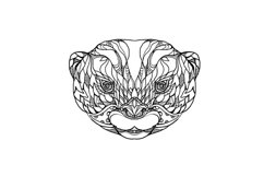 Oriental Small-clawed Otter Doodle Art Product Image 1