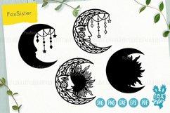 Moon mandala svg bundle, Svg Png Pdf Eps Dxf, Moon svg Product Image 3