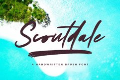 Scoutdale | Handwritten Brush Font Product Image 1