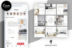 Interior Designer Instagram Posts Template | CANVA Product Image 1