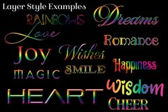 Rainbow Layer Styles - Set of 30 Styles for Photoshop Product Image 2