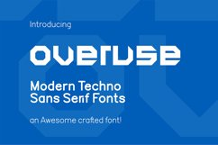 Overuse Font Product Image 1