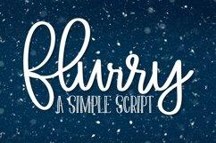 Web Font Flurry - A Simple Clean Script Font Product Image 1