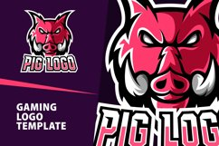 Angry Pig Gaming Logo Template Product Image 1