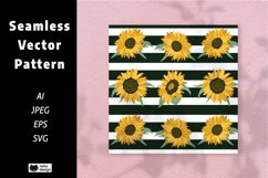 sunflower Vector Seamless Pattern Product Image 1