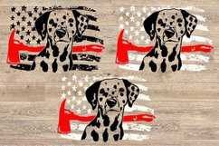 Firefighter Dalmatian USA Flag SVG 4th July 1693s Product Image 2