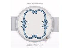 Simple vintage oval monogram font border frame Product Image 1