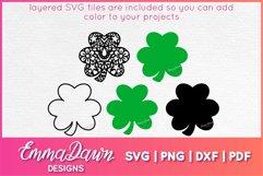 St Patrick's Day Mandala Clover SVG Zentangle Design Product Image 2