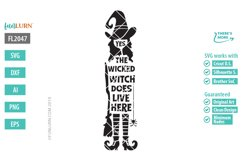 Yes the Wicked Witch Does Live Here SVG Cut File Product Image 2
