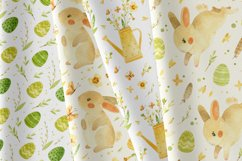 Easter Bunny - watercolor clipart, seamless patterns & cards Product Image 5