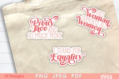 Women Equality Sticker Bundle | PNG Printable Sticker Pack Product Image 5