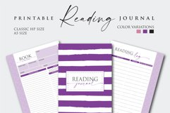 Printable Book Reading Journal Product Image 2