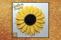 Paper Sunflower Template Svg Cut File Paper Flower print Product Image 2
