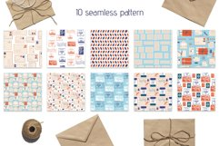 Postcards stamps vector set Product Image 2