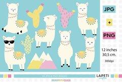 Llama clipart, llama birthday png, happy llama stickers Product Image 1