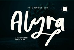 Web Font Alyra - A Handwritten Script Font Product Image 1