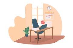 Work deadline 2D vector web banner, poster Product Image 1
